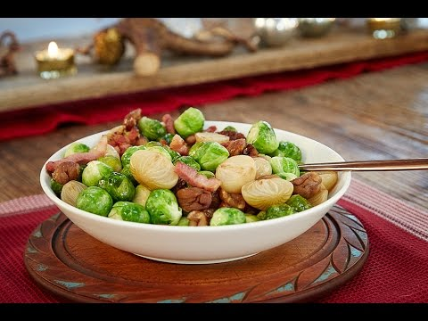 Roasted Brussel Sprouts With Bacon Recipe   Christmas Meal Ideas   Haywards Pickles