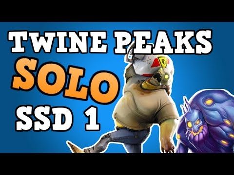 SOLOING TWINE PEAKS SSD 1 WITH NO WEAPONS | Trap Tunnel Setups | Fortnite Save The World