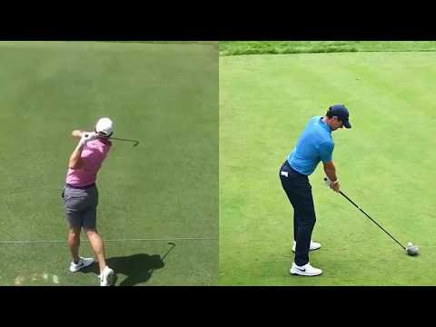 RORY MCILROY GOLF SWING CLOSE UP SLOW MOTION