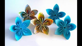 How to make a simple paper flower diy crafts tutorial clip songs how to make a kusudama paper flower easy origami kusudama flower for beginners making mightylinksfo