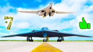 7 лучших СТРАТЕГИЧЕСКИХ БОМБАРДИРОВЩИКОВ мира ⭐ Ту-160 vs B-2 Spirit. Кто круче?