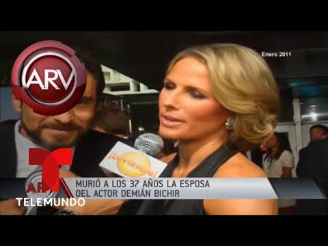 Fallece a los 37 años la esposa del actor Demián Bichir | Al Rojo Vivo | Telemundo