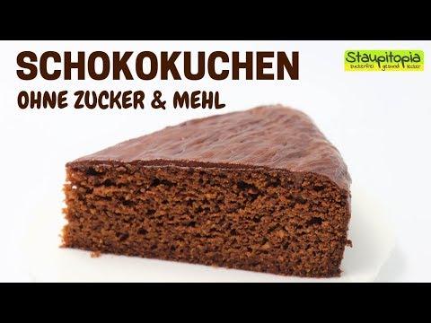 Der beste Schokokuchen! Schokokuchen ohne Zucker und Mehl | Low Carb Kuchen Rezept