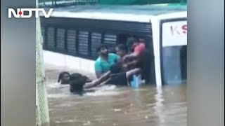 Dramatic Videos Show Kerala Rain Nightmare As Floods Take Cars, Bus