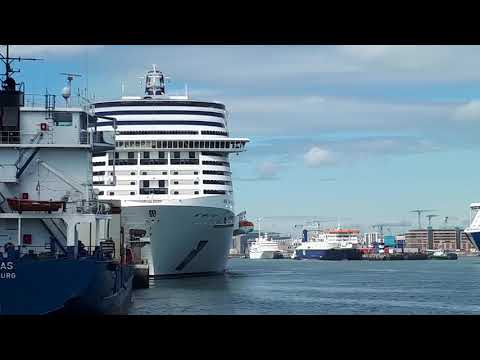 MSC Meraviglia, Royal Princess and the Hamburg Cruise Ships in Dublin Port today