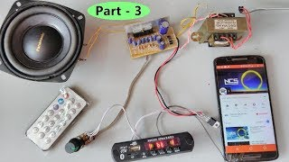 (part- 3)Testing - Bluetooth, SD card, AUX, FM radio mp3 player module with amplifier