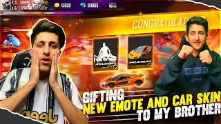 Gifting New Emote & Car Skin To My Brother (10,000 Diamond) New Event Free Fire 😍 - Garena Free Fire