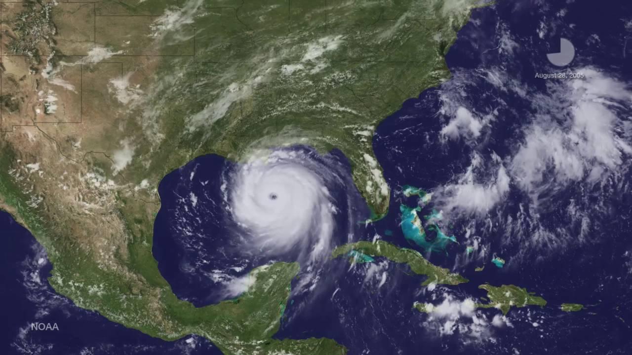 Satellites spot hot towers' in Hurricane Katrina   New ...  Hurricane Katrina Satellite Thermal