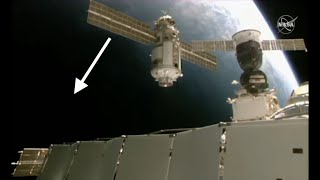 BUSTED! Mysterious Craft Caught on ISS Live Feed ACCELERATING out of the Camera's Field of View!