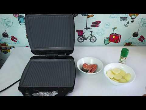 Готовим форель и картофель на гриле в мультипекаре REDMOND 737/6
