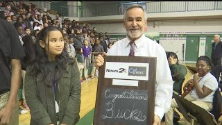 Deer Park Middle School receives the News 2 Cool School award