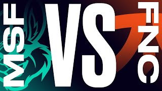 MSF vs. FNC - Неделя 1 День 1 | LEC  Весенний сплит | Misfits Gaming vs. Fnatic (2021)