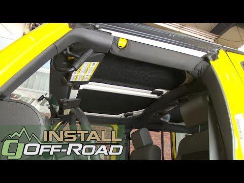 Design Engineering 050132 Boom Mat Sound-Deadening Headliner for 2-Door Jeep Wrangler Black 2007-2010