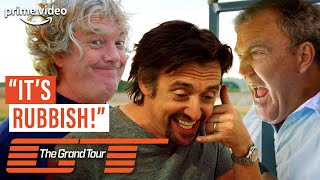 Clarkson, Hammond and May Trash-Talking Each Other's Cars   The Grand Tour Season 1   Prime Video