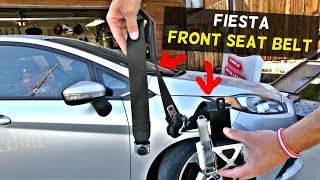 FORD FIESTA FRONT SEAT BELT REMOVAL REPLACEMENT MK7 ST DRIVER SEAT BELT