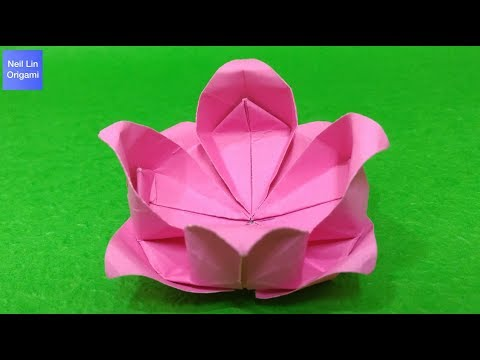 Origami Lotus Flower Tutorial - How to make a paper Lotus Flower