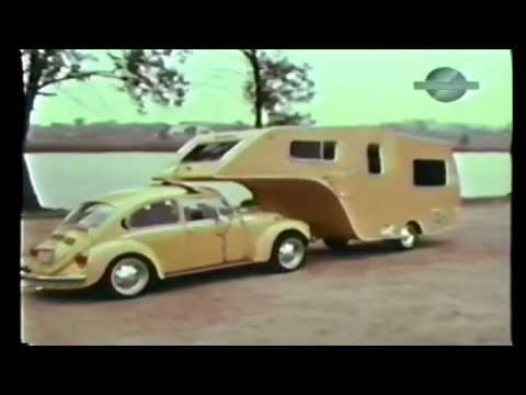VW Bug Fifth Wheel Trailer Found.  Forgotten Volkswagen Camper.  1 of a kind VW accessory.
