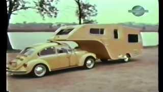 VW Bug Gooseneck Trailer FOUND.  Forgotten Volkswagen Camper.  1 of a kind VW accessory.