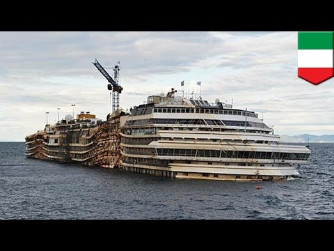 Costa Concordia refloating: the doomed ship is towed away for scrapping