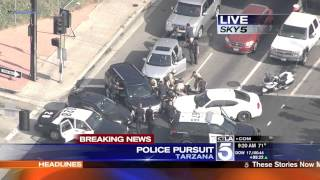 Police Pursuit - Ford Explorer SUV Driver Pursuit SoCal August 25, 2014