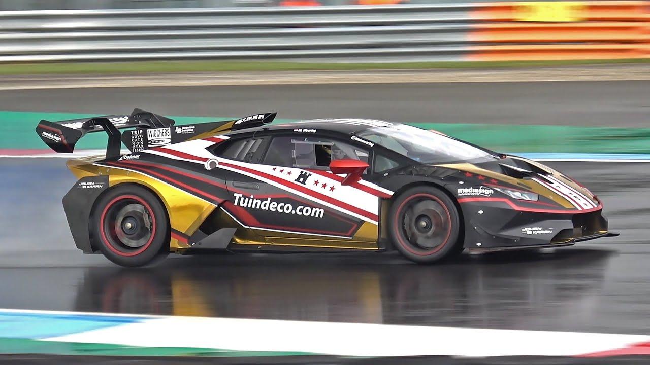 Lamborghini Huracán Super Trofeo Evo with Capristo Exhaust - Revs, Accelerations, Fly By's!