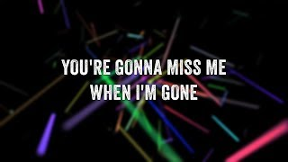 Simple Plan - When I'm Gone (Lyric Video)