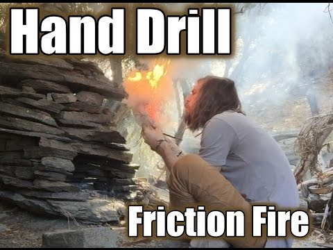 Hand Drill - Friction Fire -Raw Unedited