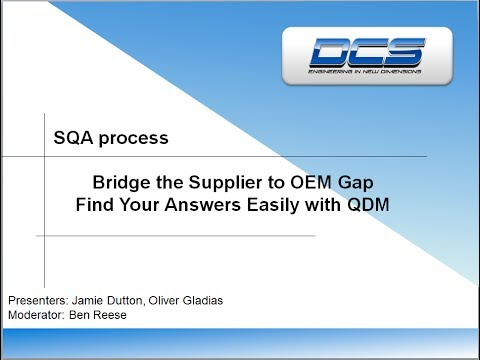 Supplier Quality Assurance - Easily and Inexpensively Communicate SPC Quality Data