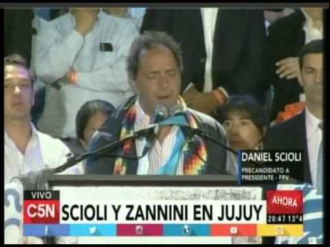 C5N - Eleccion 2015: Scioli y Zannini en Jujuy (Parte 2)