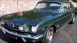 1966 Ford Mustang Coupe, dark green, for sale Old Town Automobile in Maryland