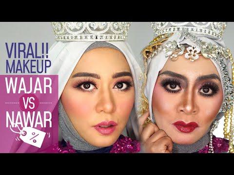 MAKEUP WAJAR VS MAKEUP NAWAR! PILIH MANA? Makeup Pakai Produk Yang Sama Dengan Hasil BEDA!!
