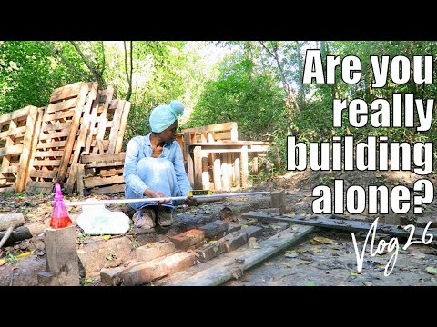 VLOG 26 ARE YOU REALLY BUILDING ALONE | GOD WOULD RAIN & WE WOULD WATCH THIS OLD HOUSE | LEVELIN
