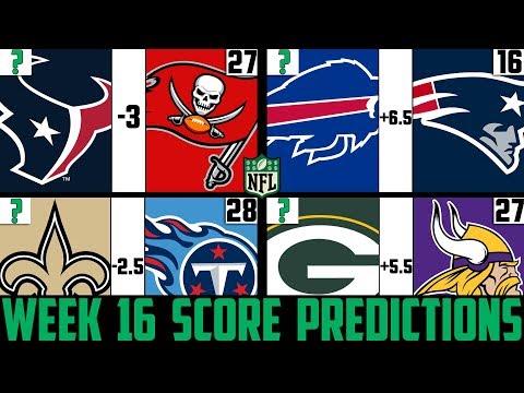 NFL Week 16 Score Predictions 2019 (NFL WEEK 16 PICKS AGAINST THE SPREAD 2019)