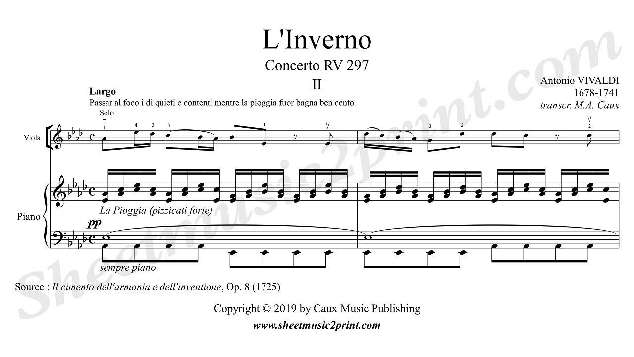 Vivaldi : Four Seasons - Winter - Largo - Flute