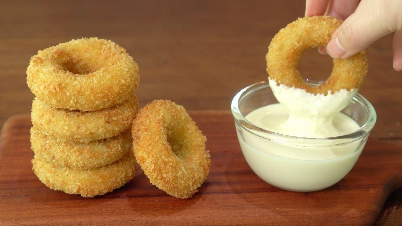 치킨도넛과 갈릭치즈소스 만들기 :: 치킨너겟 퍽퍽하지 않게 만드는법 :: Chicken Donuts with Chesse Garlic Sauce