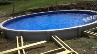 Putting in a pool and deck in timelapse