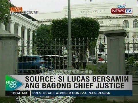 NTG: Source: Si Lucas Bersamin ang bagong chief justice