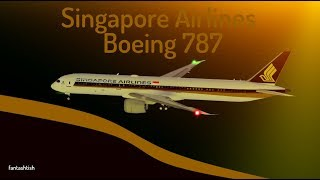 ROBLOX | Singapore Airlines Boeing 787 Dreamliner Flight.