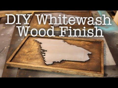 DIY Whitewash Wood Finish - How To Whitewash
