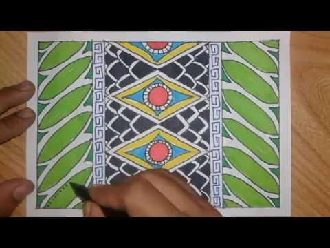 Cara Membuat Batik Sederhana Dengan Pola Bebas Youtube