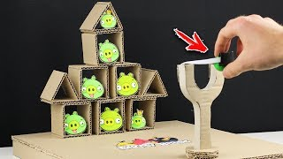 How to Make ANGRY BIRDS Gameplay from CARDBOARD | DIY Real Life Angry Birds