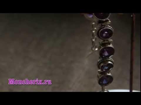 Серебряный браслет с александритом Apm4032