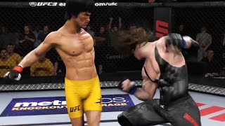 UFC Bruce lee vs The undertaker Is the neck bone okay?
