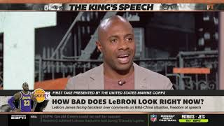 Stephen A. Smith doubt How bad does LeBron look right now? | First Take