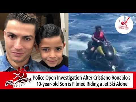 Police investigate video of Cristiano Ronaldo Jr. driving jet ski alone