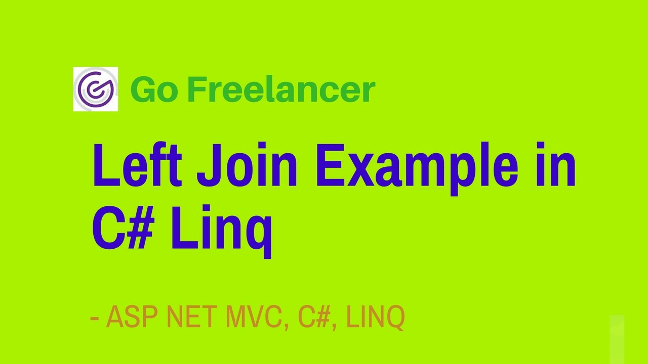 Left Join Example In C Linq Youtube