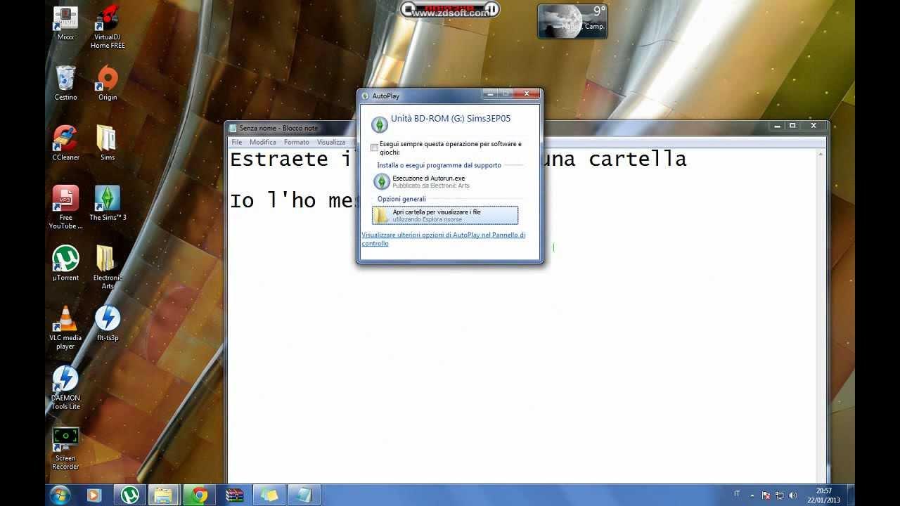 ed installare the sims 3