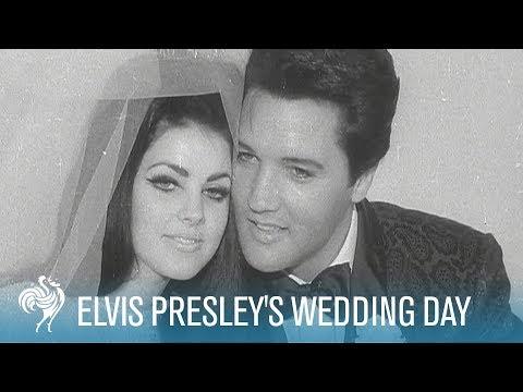 Elvis & Priscilla Presley's Wedding Day in Las Vegas (1967) | British Pathé