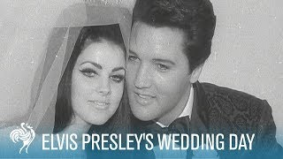 Elvis & Priscilla Presley's Wedding Day in Las Vegas (1967) | British Pathé