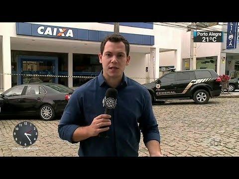 Clientes e funcionários são feitos reféns durante assalto a banco | SBT Notícias (17/02/18)